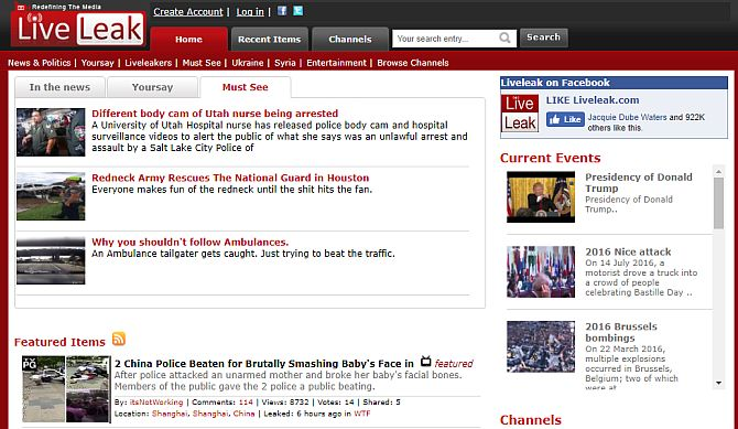 6 shocking video websites - liveleak