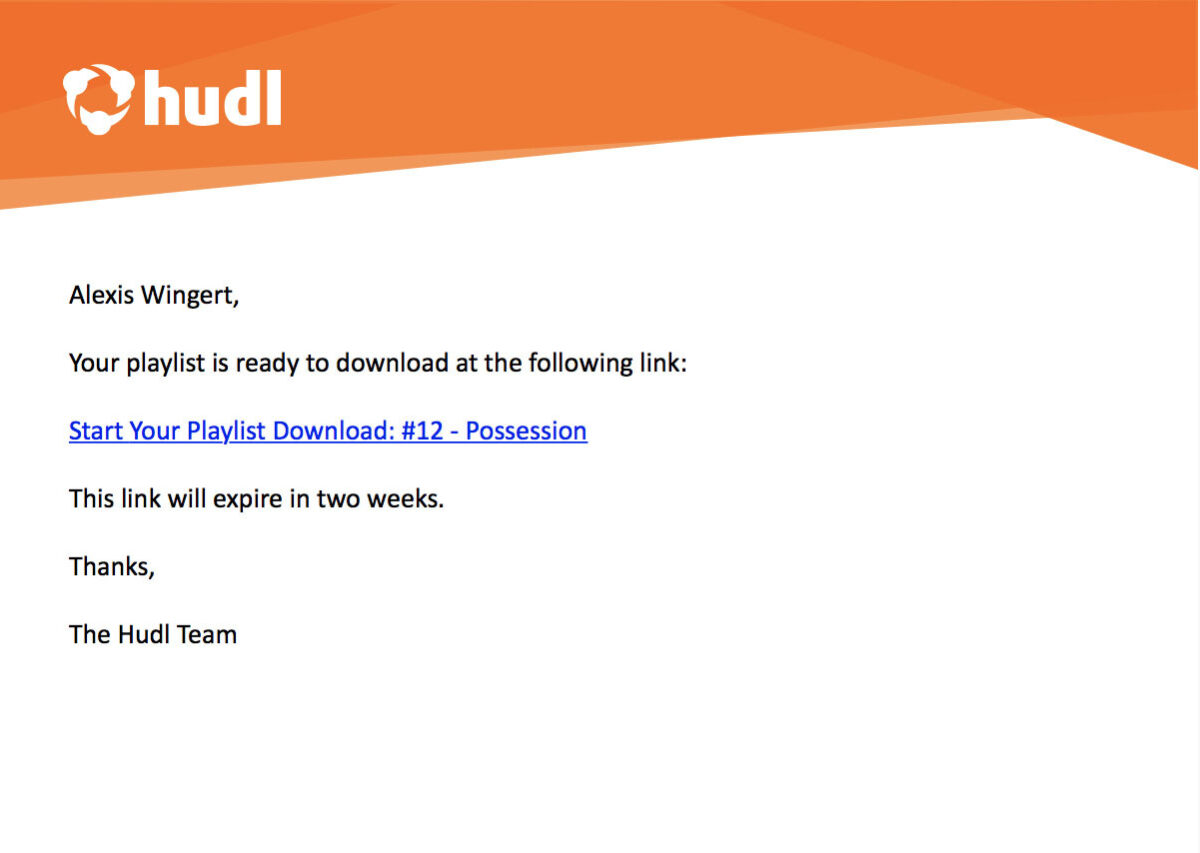 how to download hudl highlights - Open the email and click the down­load link