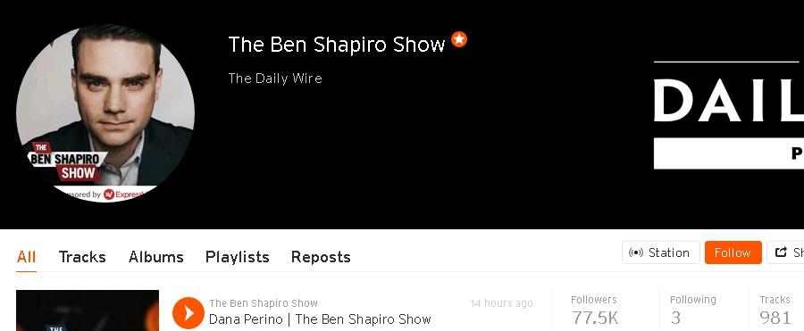 ben shapiro on soundcloud