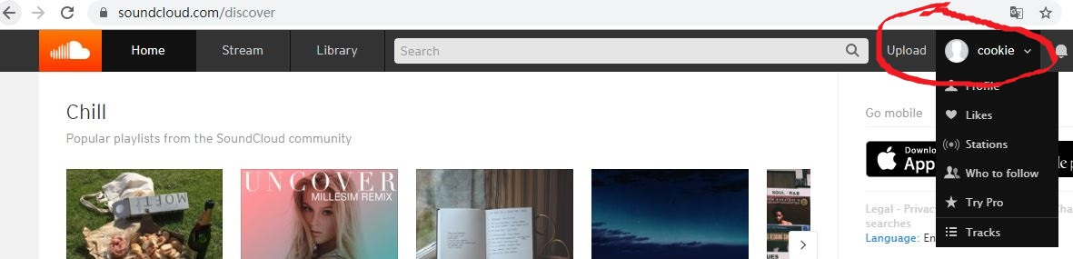 The browser will help you navigate to the new page(your profile setting page),you can find edit button like screenshot, in this page you can edit username and both profile image