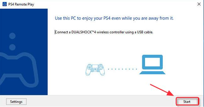 Set up the connection for your PC and PS4