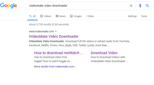 search iVideoMate to download FlizMovies