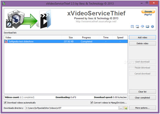 Top 5 free Facebook Video Downloader-X Video service thief