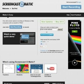 Screencast-O-Matic can recod video channel from discovery